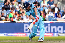 Jonny Bairstow of England hits a 6 - Mandatory by-line: Robbie Stephenson/JMP - 18/06/2019 - CRICKET- Old Trafford - Manchester, England - England v Afghanistan - ICC Cricket World Cup 2019 group stage