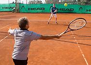 Bob Brett Tennis in San Remo<br /> <br />  - Bob Brett School of Tennis  -  -  Solaro Tennis Club - San Remo -  - Italien  - 24 July 2016. <br /> &copy; Juergen Hasenkopf
