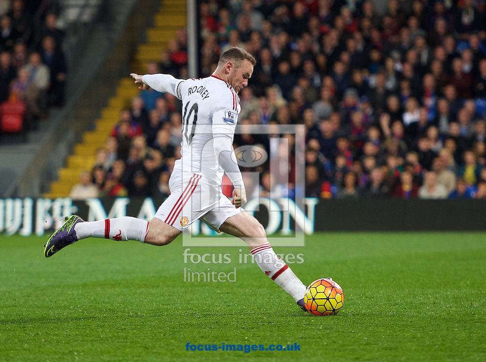 Wayne Rooney of Manchester United during the Barclays Premier League match at Selhurst Park, London<br /> Picture by Alan Stanford/Focus Images Ltd +44 7915 056117<br /> 31/10/2015