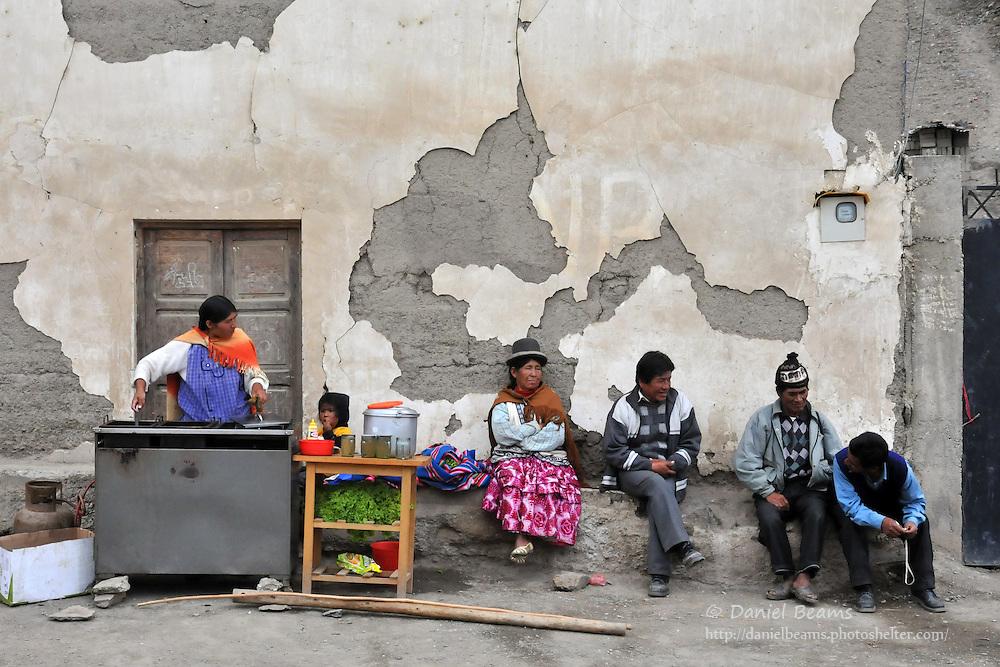Quiabaya lunch stand, near Sorata, Bolivia