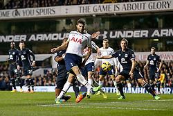 Federico Fazio of Tottenham Hotspur shoots - Photo mandatory by-line: Rogan Thomson/JMP - 07966 386802 - 30/11/2014 - SPORT - FOOTBALL - London, England - White Hart Lane - Tottenham Hotspur v Everton - Barclays Premier League.