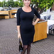 NLD/Amsterdam/20130912 - Talkies Terras Lunch 2013, zwangere Do, Dominique van Hulst