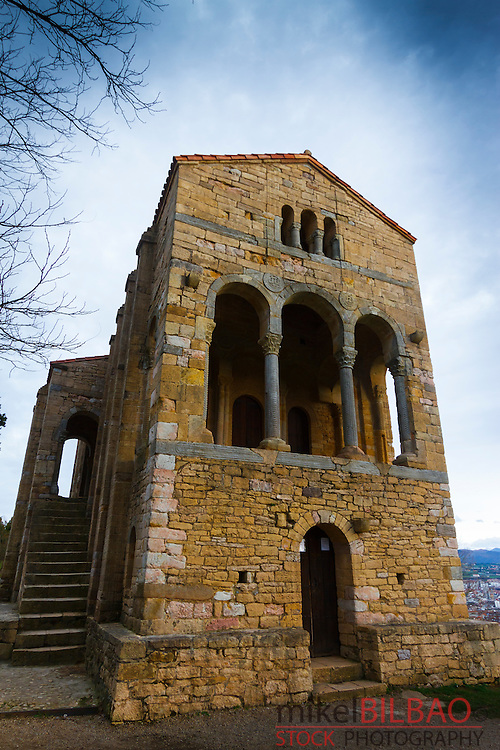 church of St Mary at Mount Naranco. Oviedo, Asturias, Spain. Europe.