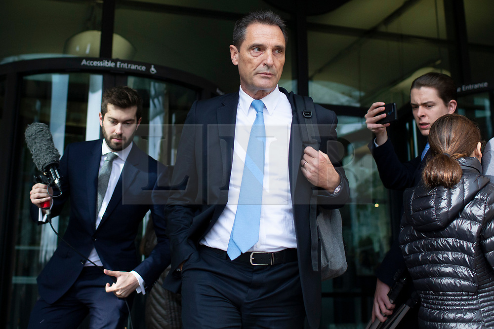 © Licensed to London News Pictures. 15/10/2019. London, UK. Former CEO of Thomas Cook Peter Fankhauser departs Portcullis House after appearing in front of a select committee .  Photo credit: George Cracknell Wright/LNP