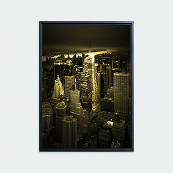 Manhattan # 02, New York • Original photographic work by Antoine Duhamel • Direct print on brushed brass.