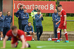 KIRKBY, ENGLAND - Saturday, August 19, 2017: Liverpool's Under-18 manager Steven Gerrard during an Under-18 FA Premier League match between Liverpool and Blackburn Rovers at the Kirkby Academy. (Pic by David Rawcliffe/Propaganda)