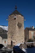 Tour de l'horloge, Prats Balaguer - clocktower, in the hamlet, in the Pyrenees Orientales, France.