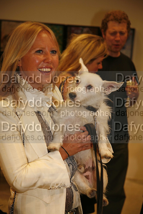ALICE BAMFORD AND EGG, Party for House of Waris jewelry collection hosted by Daphne Guinness, Alice Bamford and Wes Anderson. Dover St. market. London. 8 June 2006. ONE TIME USE ONLY - DO NOT ARCHIVE  © Copyright Photograph by Dafydd Jones 66 Stockwell Park Rd. London SW9 0DA Tel 020 7733 0108 www.dafjones.com