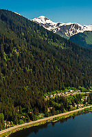 Aerial view near Juneau, Alaska USA.