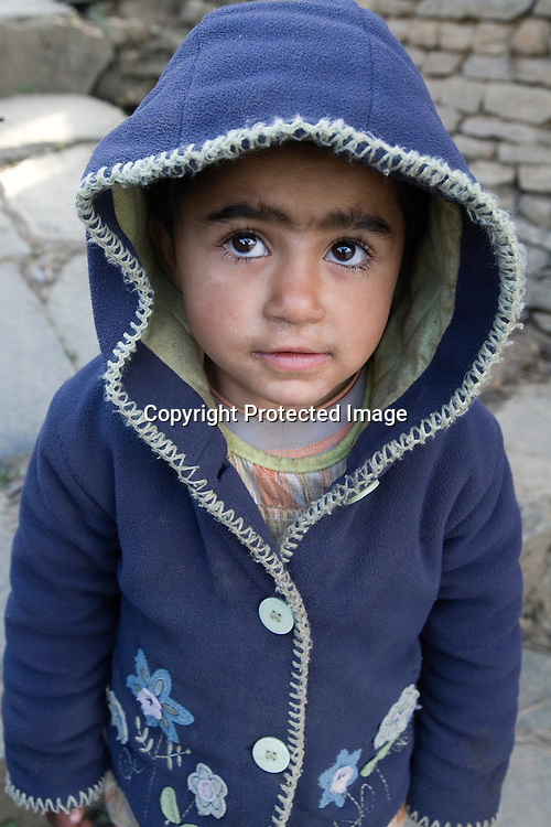 Gurung boy pose for picture in Ghandruk village near by Pokhara, Nepal
