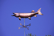 Muskie weathervane at Dairymen's resort in the remote Northwoods of northern Wisconsin.