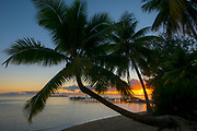 Sunset, Tiahura, Moorea, French Polynesia, South Pacific