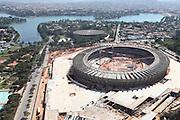 Belo Horizonte_MG, Brasil.<br /> <br /> Imagem aerea da reforma do estadio Governador Magalhaes Pinto, Mineirao, em Belo Horizonte, Minas Gerais.<br /> <br /> Aerial view of  works in Governador Magalhaes Pinto stadium, Mineirao, in Belo Horizonte, Minas Gerais.<br /> <br /> Foto: RODRIGO LIMA / NITRO