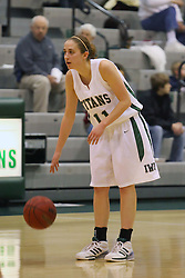 10 January 2009: Mallory Heydorn. The Lady Titans of Illinois Wesleyan University downed the and Lady Thunder of Wheaton College by a score of 101 - 57 in the Shirk Center on the Illinois Wesleyan Campus in Bloomington Illinois.