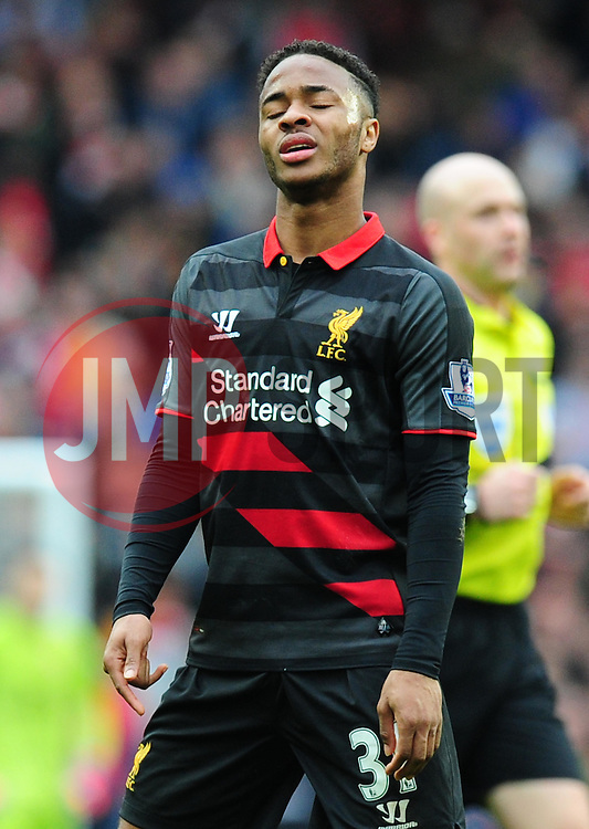Raheem Sterling of Liverpool looks dejected  - Photo mandatory by-line: Alex James/JMP - Mobile: 07966 386802 - 04/04/2015 - SPORT - Football - London - Emirates Stadium - Arsenal v Liverpool - Barclays Premier League