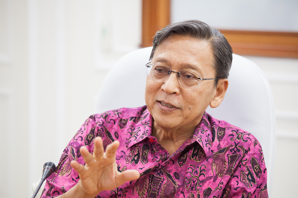 Indonesia's Vice President Boediono is interviewed at his office in Jakarta.  September 20, 2013.