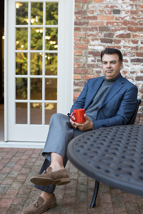 Chris Knott, Creative Director for Peter Millar, at the company headquarters in Raleigh, North Carolina, Tuesday, Oct. 3, 2013. <br /> <br /> D.L. Anderson for The Wall Street Journal<br /> TOTTURTLE