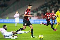 Mohamed BENRAHMA - 04.04.2015 - Nice / Evian Thonon - 31eme journee de Ligue 1<br />Photo : Serge Haouzi / Icon Sport