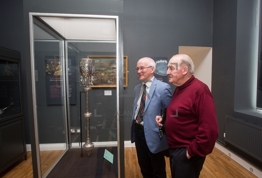 30.05. 2017.                                             <br /> Limerick Museum opened the doors to its new home at the former Franciscan Friary on Henry Street in the heart of Limerick city, dedicated to the memory of Jim Kemmy, the former Democratic Socialist Party and Labour Party TD for Limerick East and two-time Mayor of Limerick.<br /> <br /> Pictured at the opening of the Museum were, Dr. Matthew Potter and Brian Murphy, Glenstall Abbey.<br /> <br /> The museum will house one of the largest collections of any Irish museum. Picture: Alan Place