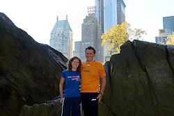 02-11-2013 ALGEMEEN: BVDGF NY MARATHON: NEW YORK <br /> Parcours verkenning en laatste training in het Central Park / Marc en Roos<br /> ©2013-FotoHoogendoorn.nl