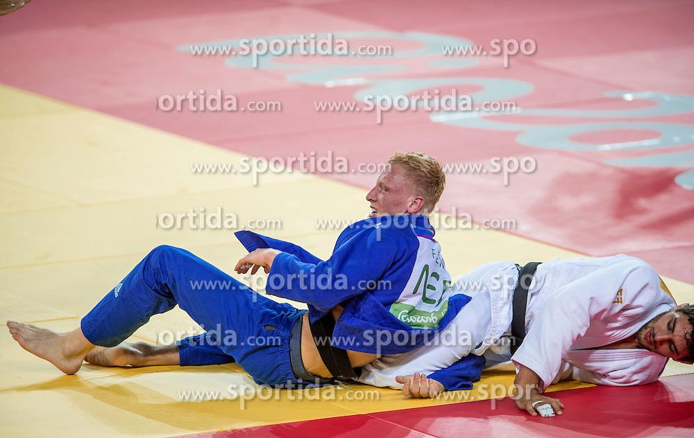 09-08-2016 BRA: Olympic Games day 4, Rio de Janeiro<br /> In de klasse tot 81 kilogram verliest Frank de Wit op de tatami van de Bulgaar Ivaylo Ivanov.<br /> Photo by Ronald Hoogendoorn / Sportida