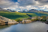 Tarn in the Chugach Mountains of Alaska near Thompson Pass.