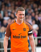 August 9th 2017, Dens Park, Dundee, Scotland; Scottish League Cup Second Round; Dundee versus Dundee United; Dundee United's Thomas Scobbie despair after going off with a groin injury
