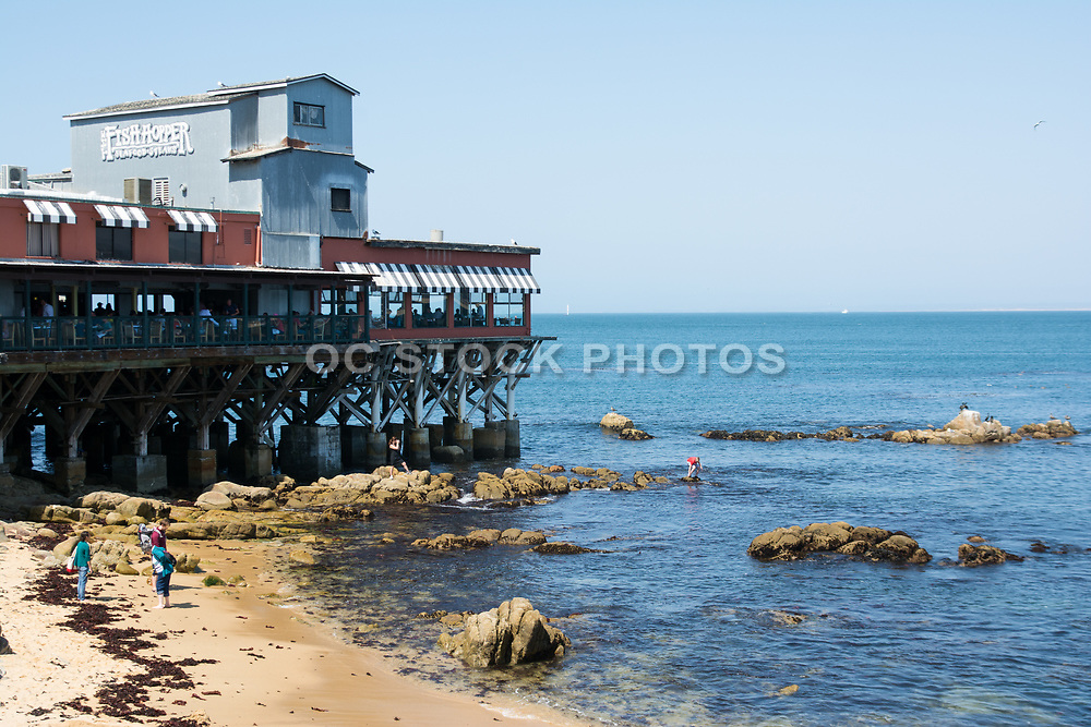 The Fish Hopper Restaurant Overlooking The Ocean On The Coast in Monterey California