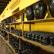 """Barro negro pottery (""""black clay"""") is a style of pottery from Oaxaca, Mexico, distinguished by its color, sheen and unique designs. Oaxaca is one of few Mexican states which is characterized by the continuance of its ancestral crafts, which are still used in everyday life."""