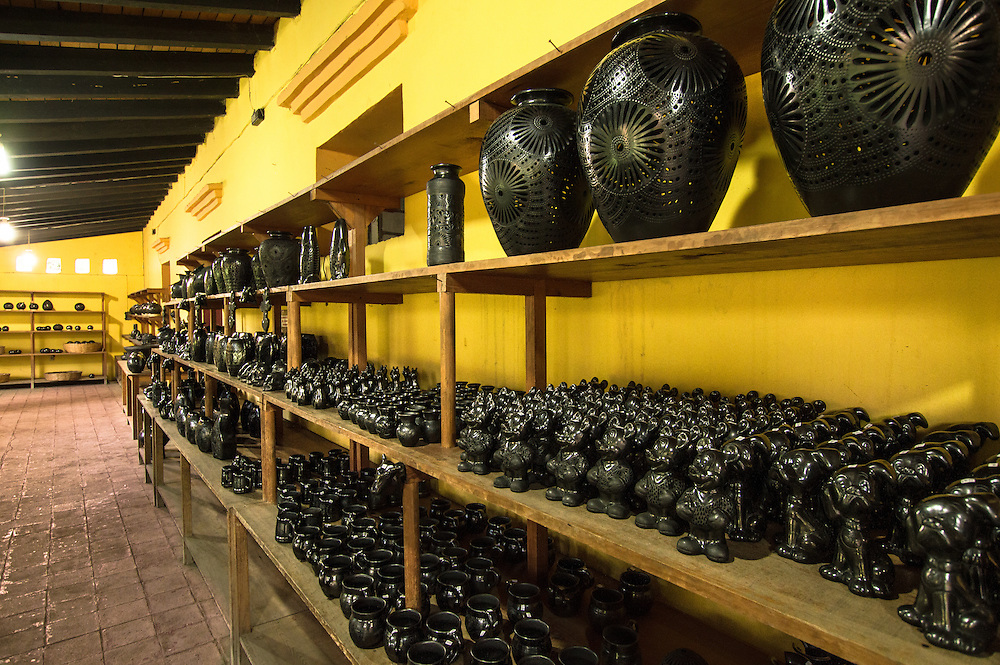 "Barro negro pottery (""black clay"") is a style of pottery from Oaxaca, Mexico, distinguished by its color, sheen and unique designs. Oaxaca is one of few Mexican states which is characterized by the continuance of its ancestral crafts, which are still used in everyday life."