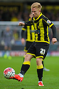 Burton Albion forward Mark Duffy controls the ball during the The FA Cup match between Burton Albion and Peterborough United at the Pirelli Stadium, Burton upon Trent, England on 7 November 2015. Photo by Aaron Lupton.