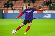 Sheffield United defender Phil Jagielka (15) during the warm up ahead of the Premier League match between Sheffield United and Arsenal at Bramall Lane, Sheffield, England on 21 October 2019.