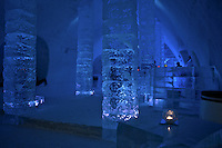 The bar in the Ice Hotel Quebec. 2007.