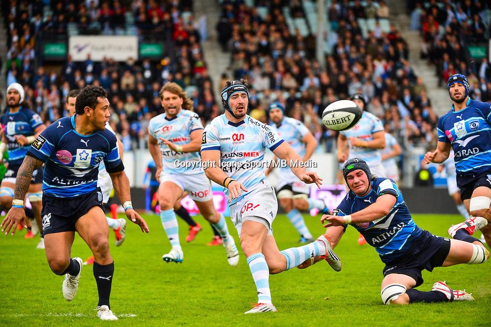 Alexandre DUMOULIN / Ben MOWEN  - 11.04.2015 - Racing Metro / Montpellier  - 22eme journee de Top 14 <br />Photo : Dave Winter / Icon Sport