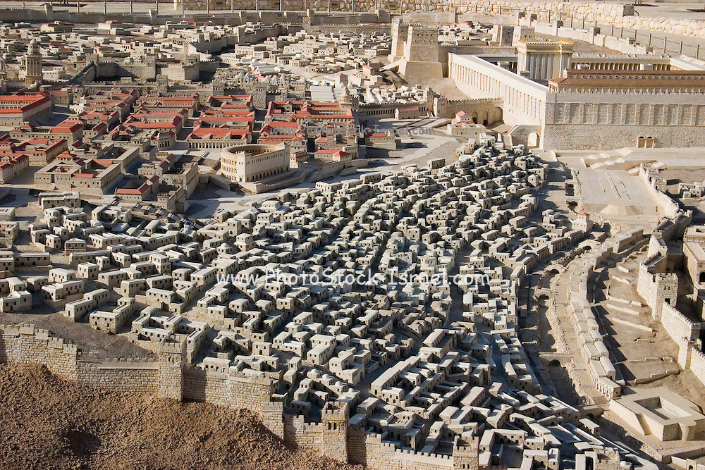 "Israel, Jerusalem, ""The City of David"". A model in the Israel Museum, Israel."