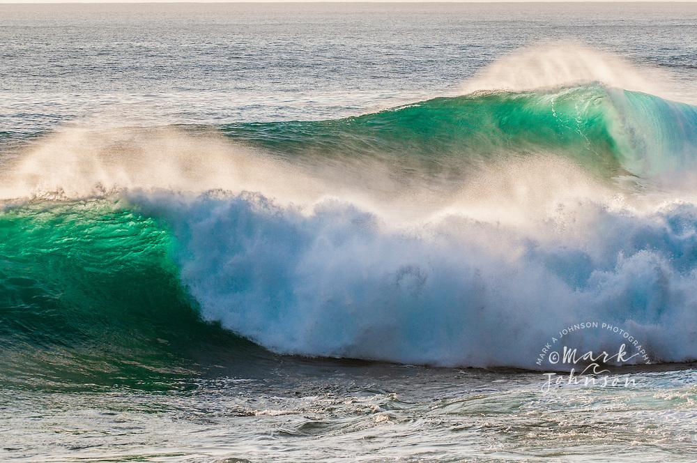 Two beautiful backlit waves, Hawaii