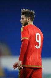Wes Burns of Wales u21s (Bristol City) - Photo mandatory by-line: Dougie Allward/JMP - Mobile: 07966 386802 - 31/03/2015 - SPORT - Football - Cardiff - Cardiff City Stadium - Wales v Bulgaria - U21s International Friendly