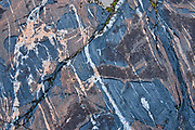 Detail of precambrian shield rock <br />