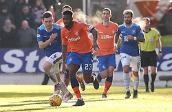 Rangers' Lassana Coulibaly (centre) in action during the Ladbrokes Scottish Premiership match at McDiarmid Park, Perth.