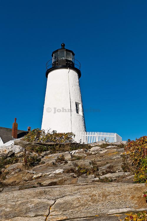 Pemaquid Point Light Station, Muscongus Bay, Bristol, Maine, USA. 1827