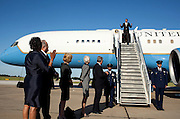 21.MAY.2012. JOPLIN<br /> <br /> PRESIDENT BARACK OBAMA DISEMBARKS AIR FORCE ONE UPON HIS ARRIVAL AT JOPLIN REGIONAL AIRPORT IN JOPLIN, MO., MAY 21, 2012  <br /> <br /> BYLINE: EDBIMAGEARCHIVE.CO.UK<br /> <br /> *THIS IMAGE IS STRICTLY FOR UK NEWSPAPERS AND MAGAZINES ONLY*<br /> *FOR WORLD WIDE SALES AND WEB USE PLEASE CONTACT EDBIMAGEARCHIVE - 0208 954 5968*