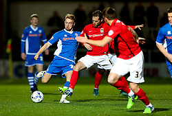 Rochdale's Callum Camps in action - Mandatory byline: Matt McNulty/JMP - 07966 386802 - 20/10/2015 - FOOTBALL - Gigg Lane - Rochdale, England - Rochdale v Coventry - Sky Bet League One