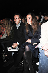 PIPPA MIDDLETON and JAMES MIDDLETON at the ISSA show as part of London Fashion Week 2010 held at Somerset House, The Strand, London on 23rd February 2010.