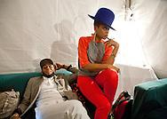 Date: August 25-26, 2012. AfroPunk Festival 2012. Location: Commodore Barry Park, Brooklyn, NY. Street Style. Photographs by Margarita Corporan. CREDIT: Margarita Corporan. CAPTION: Erykah Badu and Mos Def