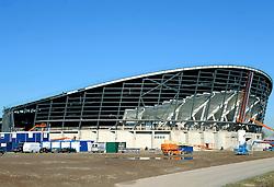 11-02-2008 VOLLEYBAL: BOUW OMNISPORT: APELDOORN<br /> De nieuwe sporthal van Apeldoorn / Stadion / Hal<br /> ©2008-WWW.FOTOHOOGENDOORN.NL