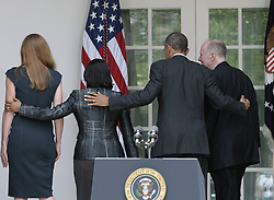 59781735  <br /> U.S. President Barack Obama (2nd R), outgoing U.S. National Security Adviser Tom Donilon (1st R), UN ambassador Susan Rice (2nd L) and Samantha Power (1st L), a former national security staffer and the next UN ambassador, leaves the Rose Garden of the White House in Washington D.C., the United States, June 5, 2013. U.S. President Barack Obama on Wednesday tapped UN ambassador Susan Rice to be the next national security advisor, taking the post vacated by Tom Donilon, who has resigned, DC, USA , June 5, 2013 .UK ONLY