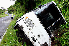 Thames-14 Howick students injured after bus rolls into ditch