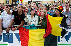 Supporters of Belgium during the Men Juniors Road Race a 132.4km race from Kufstein to Innsbruck 582m at the 91st UCI Road World Championships 2018 / RR / RWC / on September 27 , 2018 in Innsbruck, Austria.  Photo by Vid Ponikvar / Sportida