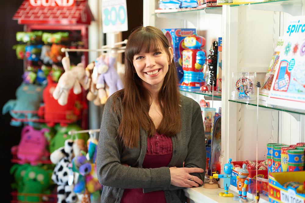 Activity; Collaboration; Community Service; Smiling; Location; Inside; People; Woman Women; UWL UW-L UW-La Crosse University of Wisconsin-La Crosse; Winter; January; Type of Photography; Portrait; Toy Shop; Matt Hemmersbach