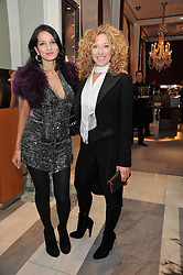 Left to right, YASMIN MILLS and KELLY HOPPEN at a party to launch the Georgina Chapman collection for Garrard held at Garrard, Albermarle Street, London on 4th November 2009.